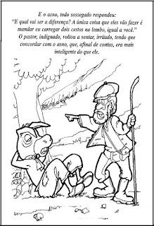 Fábula o pastor e o asno