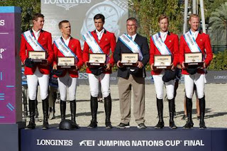 equipo belga, ganador de la Longines FEI Jumping Nations Cup Final
