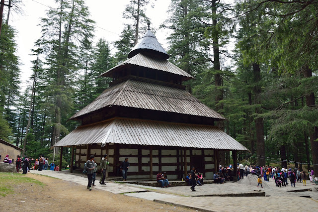 Hidimba Devi Temple, Himachal Pradesh, India, built in 1553, with a 24 meters tall wooden tower