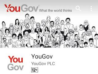 Aplikasi YouGov Survei berhadiah pulsa gratis
