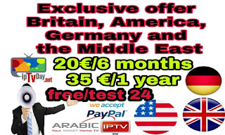 exclusive subscription of premium IPTV  for British, American, German and Arabic packages