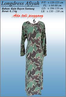 Long dress batik pekalongan murah motif terbaru 2016