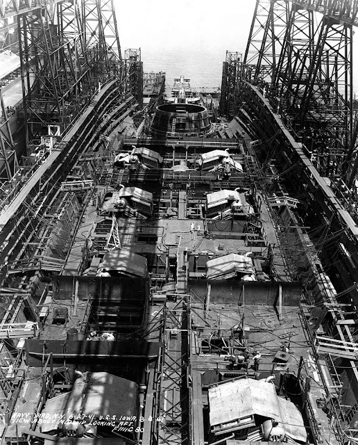USS Iowa under construction 27 June 1941 worldwartwo.filminspector.com