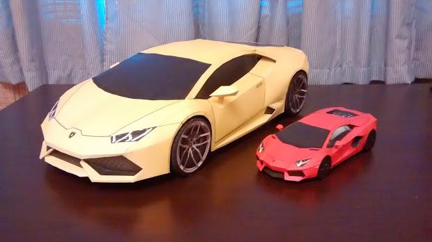 Lamborghini 3d Paper Model Template - Year of Clean Water