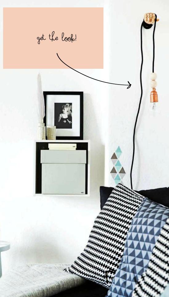 ikea hack idea hanging pendant lightbulb poppytalk. Black Bedroom Furniture Sets. Home Design Ideas