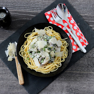 Illustration Spaghettis Courgettes & Champignons Blonds