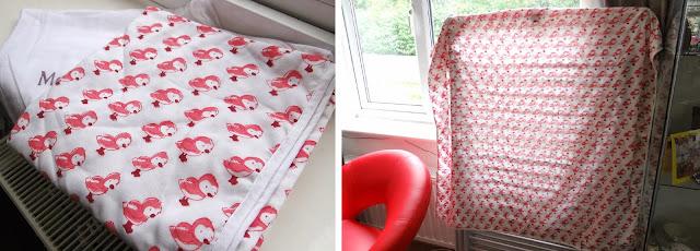 hand printed blanket, swaddle blanket, baby blanket