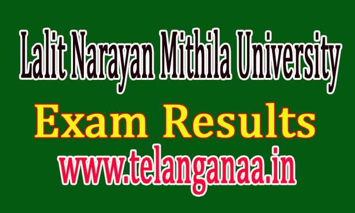 Lalit Narayan Mithila University Bihar UG 2016 Exam Results