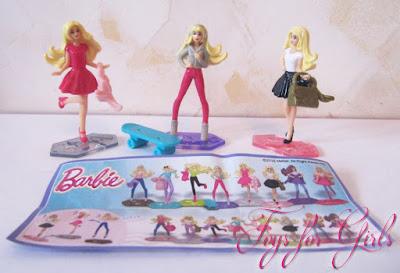 Куклы Barbie из новой коллекции Kinder Surprise 2016
