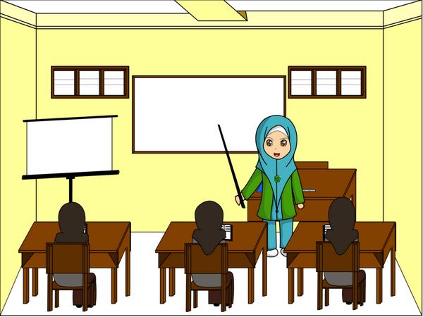 Gambar Kartun Guru Sedang Mengajar Di Kelas Brad Erva Doce Info