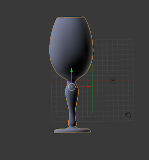 Wine Glass made from Curves in Blender