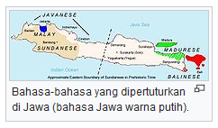 Bahasa-bahasa yang dipertuturkan di Jawa (bahasa Jawa warna putih). wisataarea.com