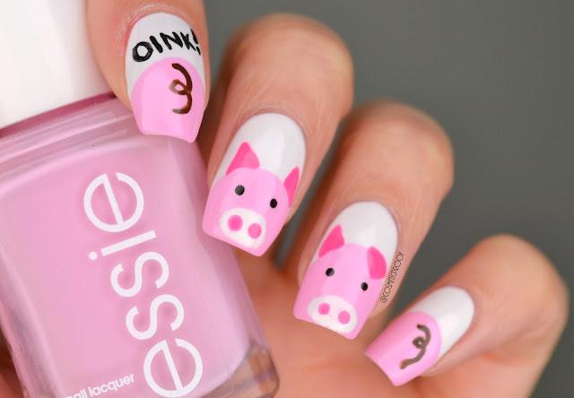 Year of the Pig Nail Art