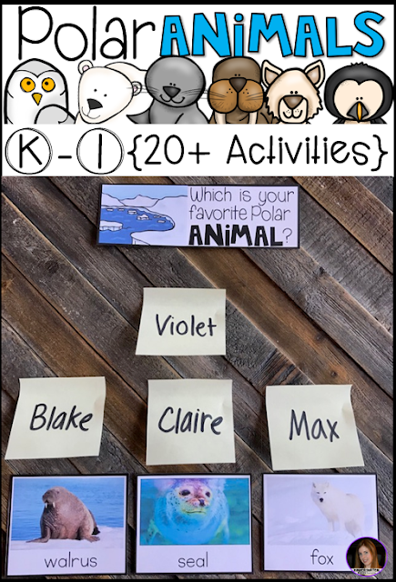 AAre you looking for a factual unit to introduce polar animals in your kindergarten and first grade classroom?  Our polar animal unit is just what you need!