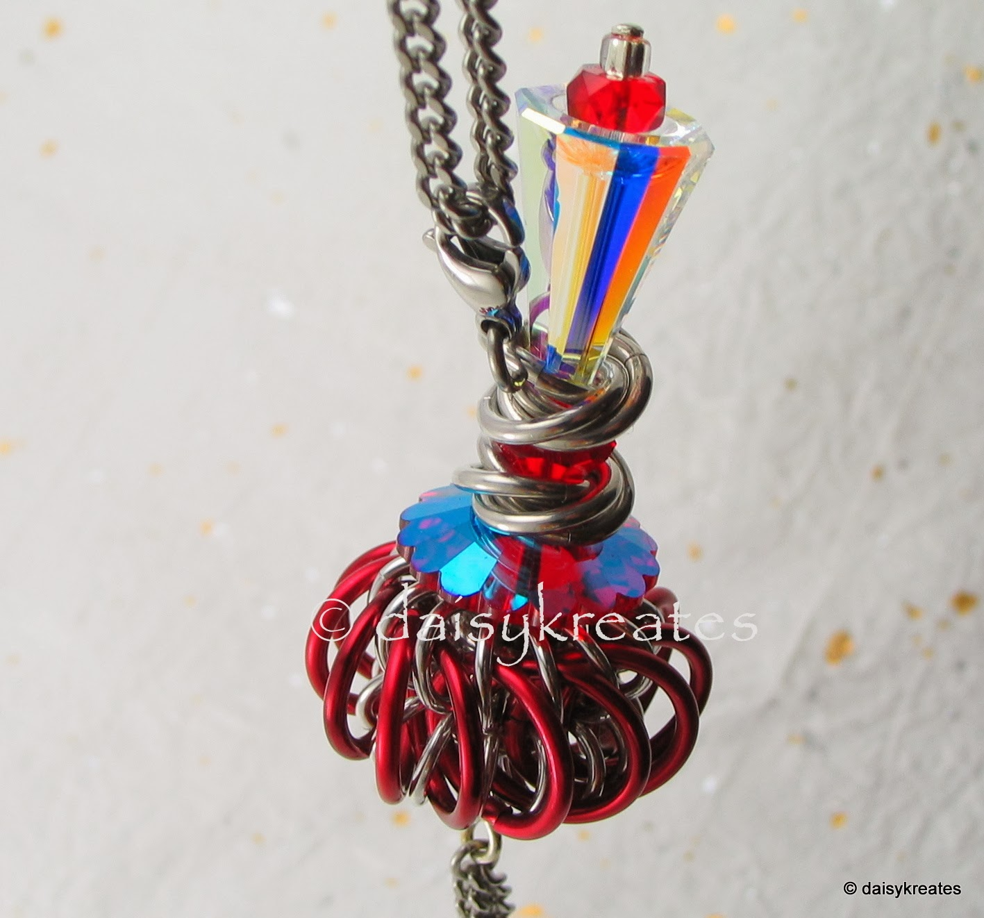 Genie Bottle Necklace: Daisykreates: Red Genie Bottle Pendant With Easy Change