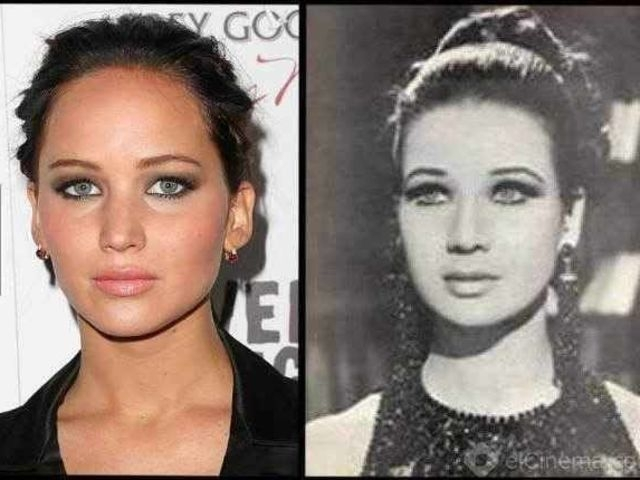 Jennifer Lawrence and Egyptian actress Zubaida Tarvat