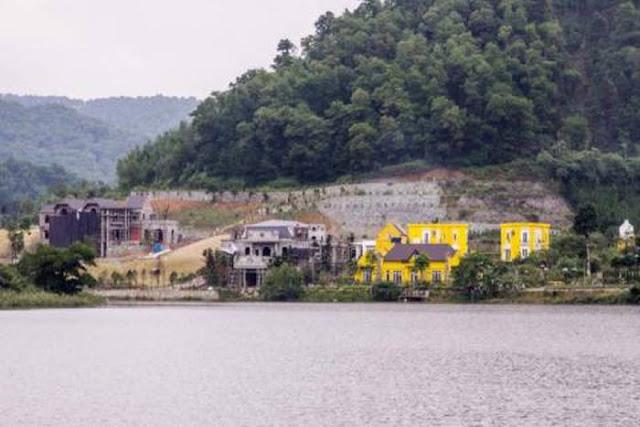 Các căn biệt thự xây dựng ở thôn Minh Tân, xã Minh Trí, huyện Sóc Sơn