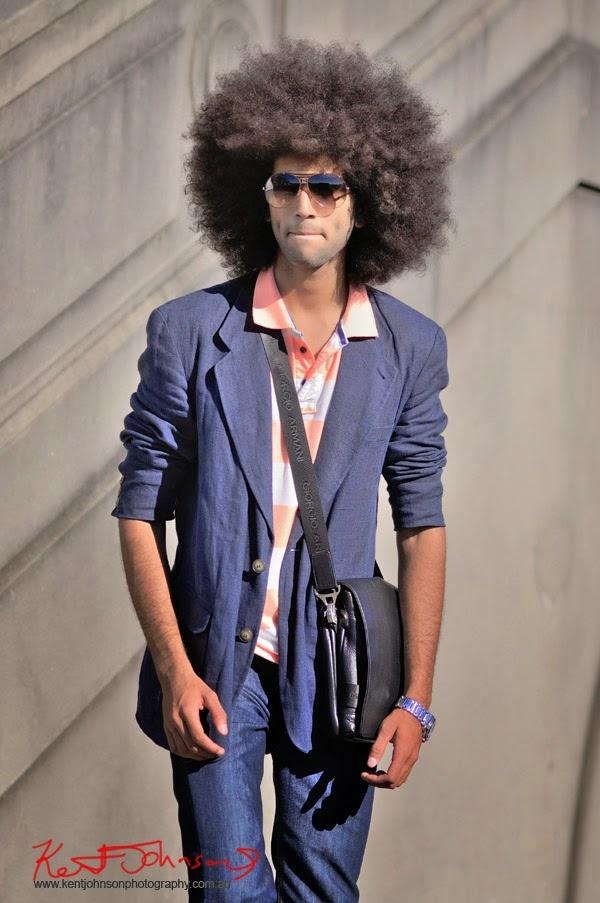 'Bad Ass' look, Aviator Sunglasses, linen jacket - Sydney Harbour Bridge location - Kent Johnson Photography.