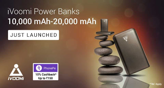 iVoomi Power Banks - Pay with PhonePe and get 10% discount