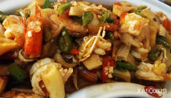Resep udang jamur tiram saus padang