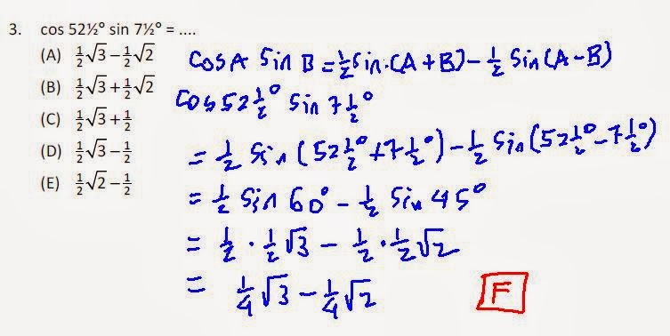 Matematika Ssc Trigonometri Perkalian Dan Penjumlahan
