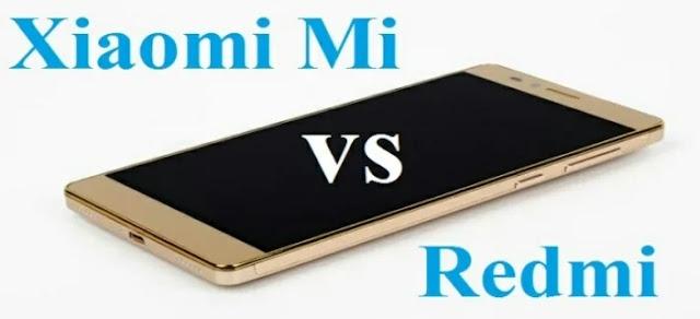 Perbedaan HP Redmi dan Mi dari Xiaomi
