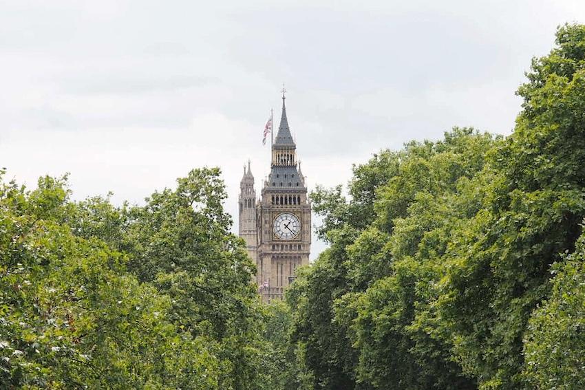 Big Ben von der Golden Jubilee Bridges aus fotographiert
