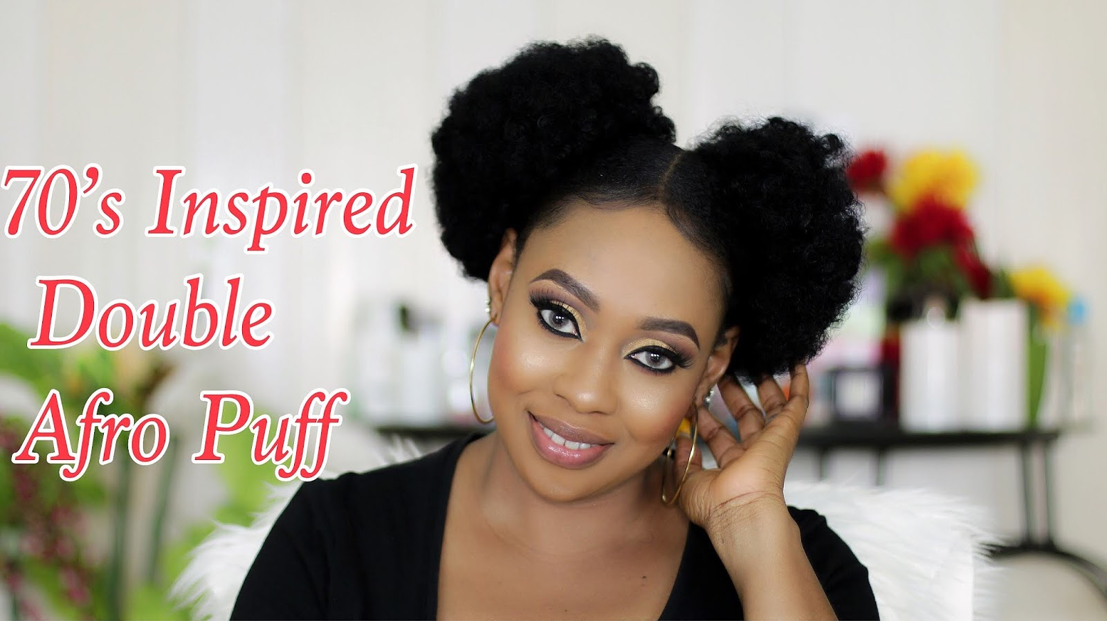 Hair Tutorial 70s Inspired Double Afro Puff Chloes Makeover