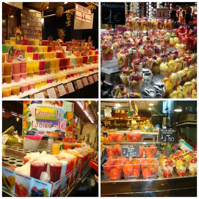 O que e onde comer em Barcelona - Mercado La Boquería