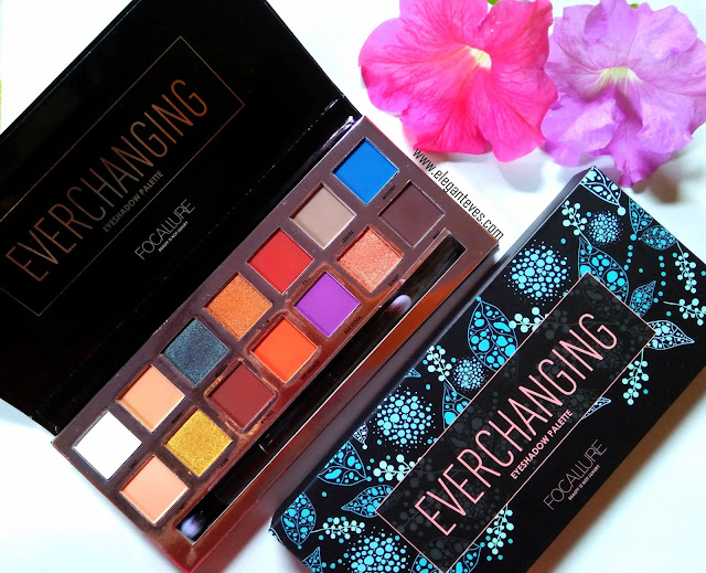 Focallure Everchanging Eyeshadow palette Review, Swatches