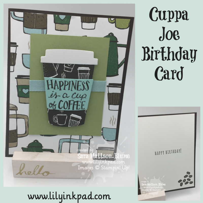 This Card Was Created So That You Could Slip A Little Instant Coffee Pouch Behind The Cup But I Didnt Have Any To Use In Photo