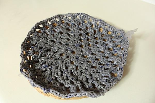 plarn, plastic yarn, crochet, WIP, fmelting