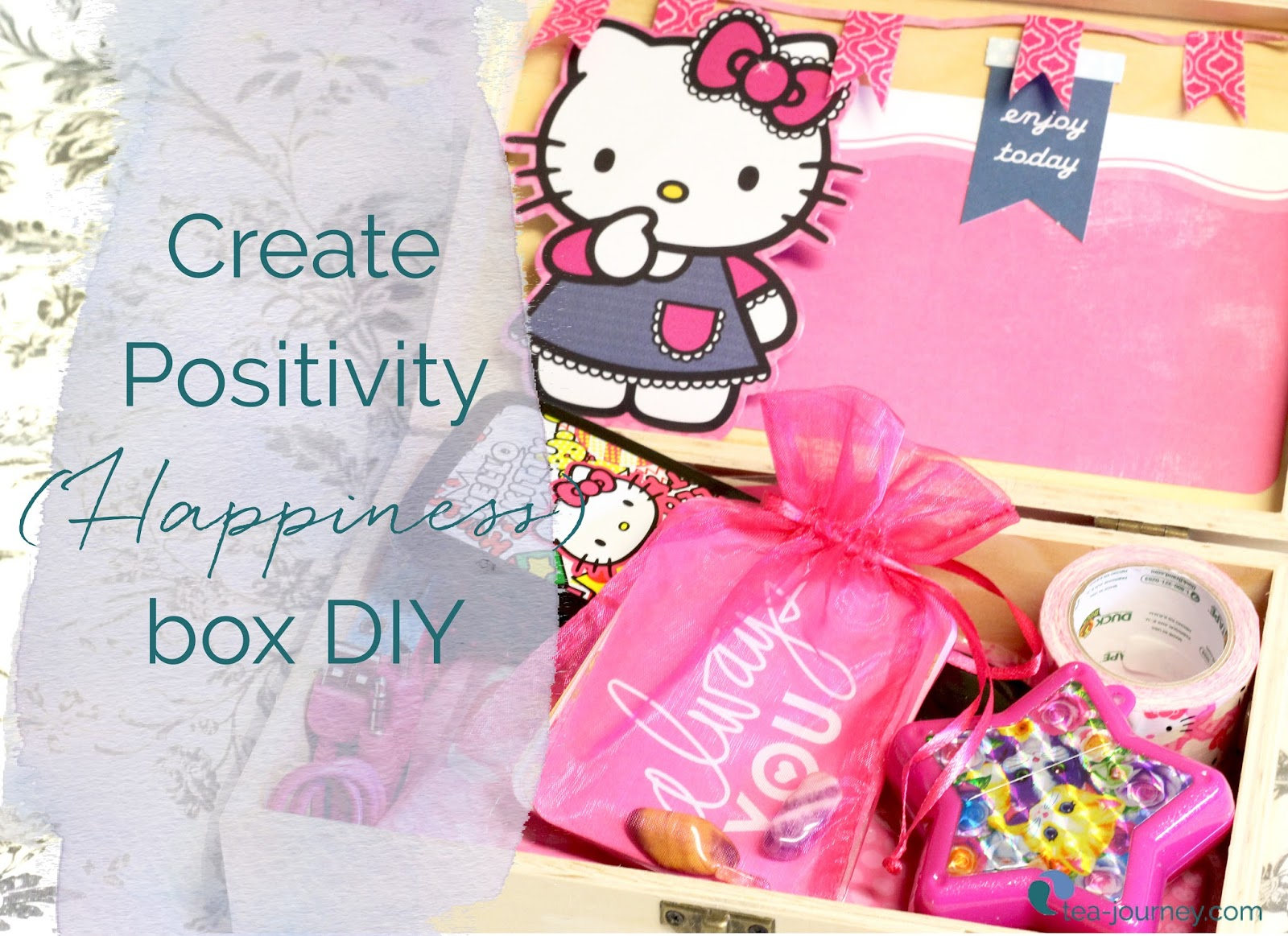 Give the gift of love and happiness with this positivity box DIY. Gather up supplies for an easy gift you can even put together last minute (we won't tell).