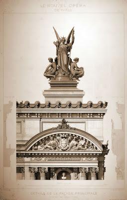 Detalle de fachada 3 Ópera Garnier