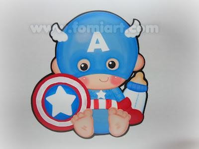 captain america  super heroes babys gratis moldes