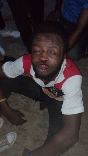 Chai!!! See What a Mob Did to a Robber Who Attacked a Man Coming from Night Vigil in Benin (Photos)