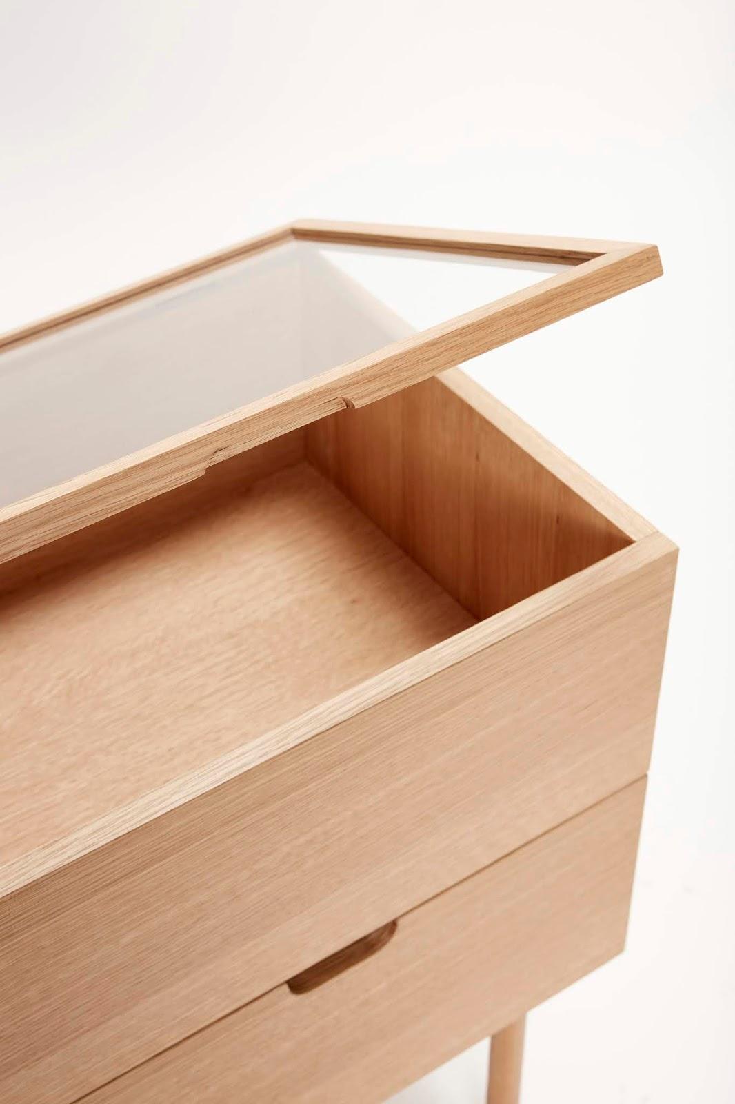 szkło i drewno, meble