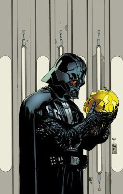 Ilustración de Darth Vader fuera de lugar