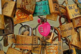 Love locks, Pont de Arts, Paris, France