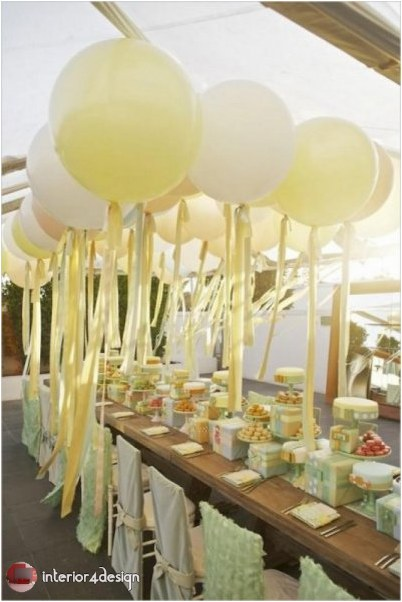 Wedding Decorations With Balloons And Flowers 23