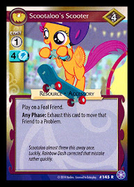 My Little Pony Scootaloo's Scooter The Crystal Games CCG Card