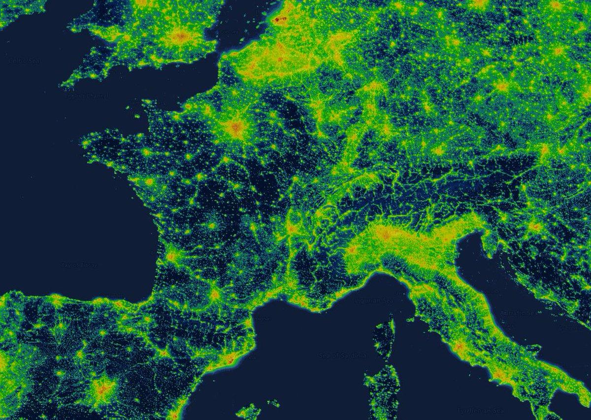 Carte Pollution Lumineuse Alsace.Cartographie Numerique Les Cartes D Emission Ou De