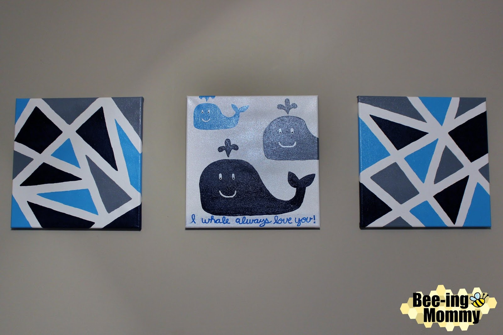 Bee-ing Mommy Blog: Geometric Wall Decor using Painters Tape