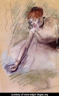 Soft pastel painting by Edgar Degas