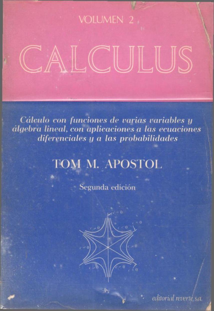 Calculus Volumen 2, 2da Edición – Tom M. Apostol