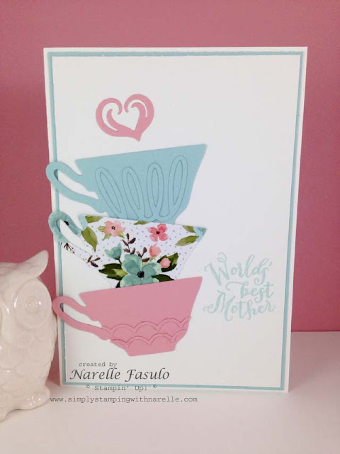 A Nice Cuppa Stamp set - Cups & Kettle Framelits - Birthday Bouquet Designer Series Paper - Simply Stamping with Narelle - available here - http://www3.stampinup.com/ECWeb/default.aspx?dbwsdemoid=4008228