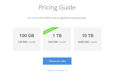 google drive pricing