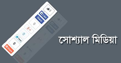 ব্লগারের জন্য আকর্ষণীয় Floating Social Media Sharing Buttons (V-2)