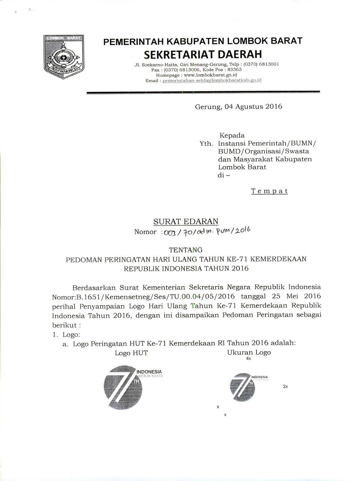 Contoh Surat Undangan Setengah Resmi Yaitu Surat Nusagates