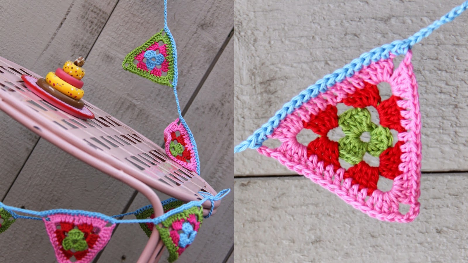 Ak At Home Crochet Vlaggenslinger